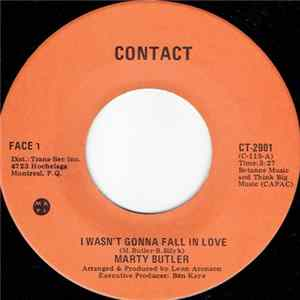 Marty Butler - I Wasn't Gonna Fall In Love MP3